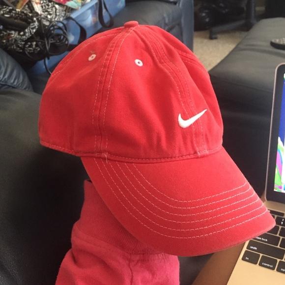 Nike Accessories - Red Nike fitted cap 9175f1e6171