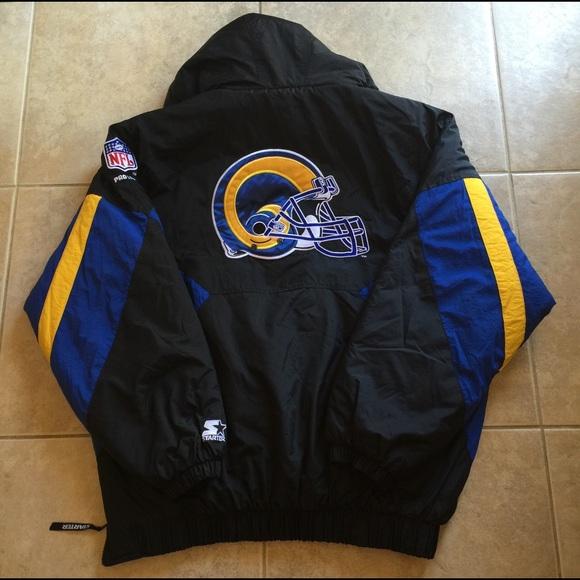 sale retailer 6d758 cec6c Vintage St. Louis Rams Starter Pro Line Jacket