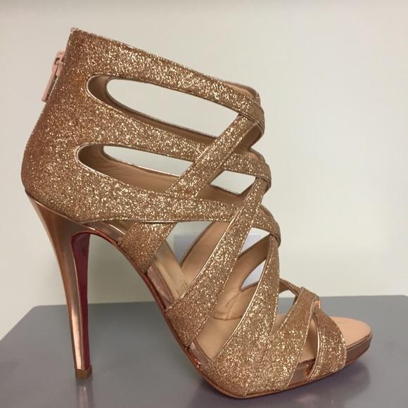 the latest 961e2 23ca4 Christian Louboutin Balota Glitter Strappy Sandals