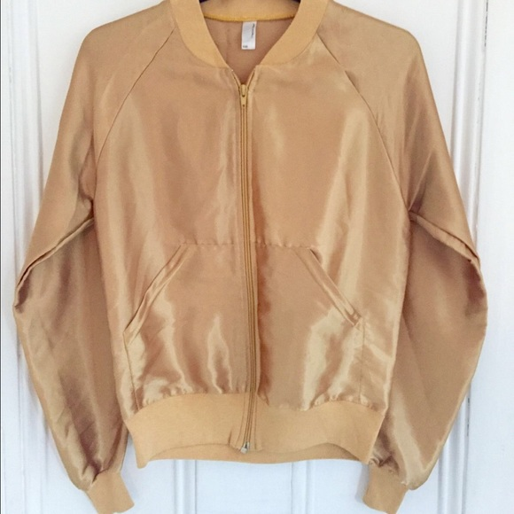 4844a9b45 Gold satin bomber from American Apparel