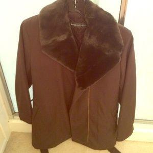 Brown coat... Barely worn