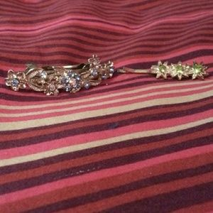 Jewelry - Bejewelled barrette and hair clip