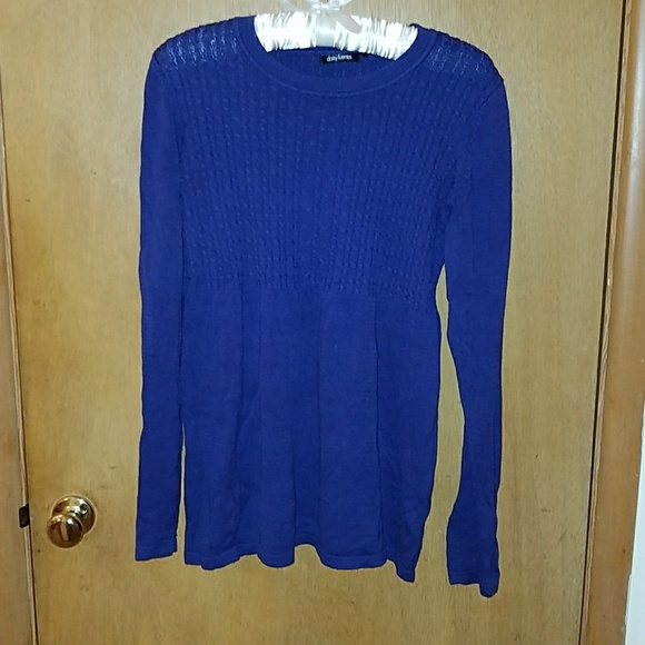 Daisy Fuentes - Royal blue / deep purple Sweater from Betsy's ...