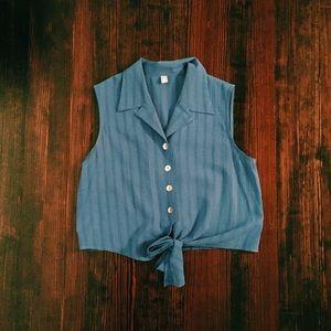 Vintage tie-up blouse