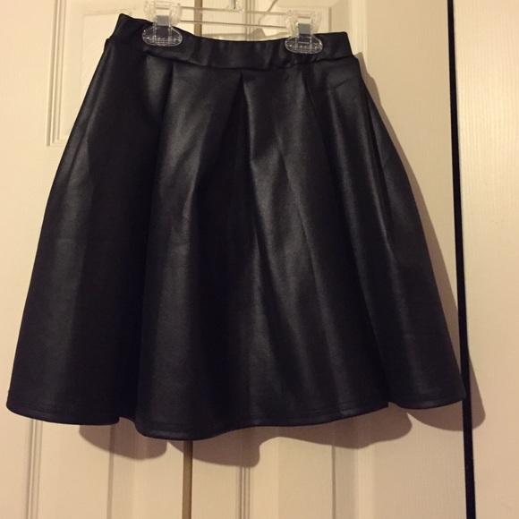 72 boohoo dresses skirts black faux leather skirt