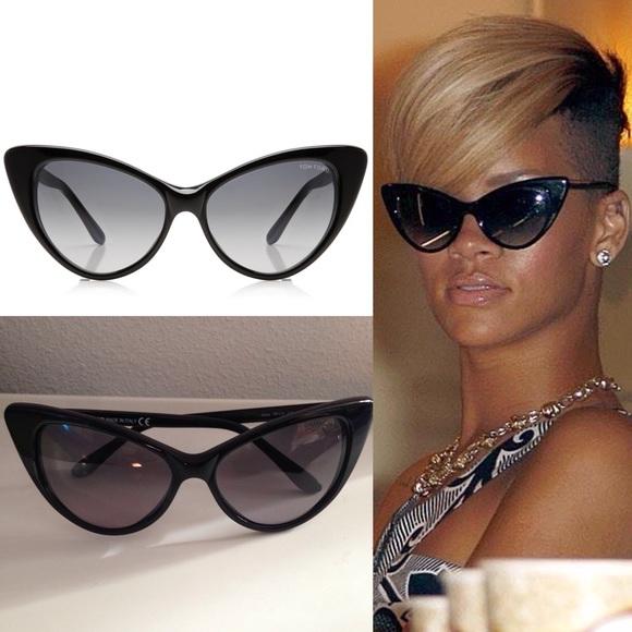 7fbfc6cf46c Tom Ford NIKITA cat-eye black sunglasses. M 55c2bc853c0112362a000ba5