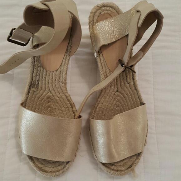 c6a38a9b4d63d J. Crew Shoes - J.Crew Corsica Espadrilles   Gold   Size 10