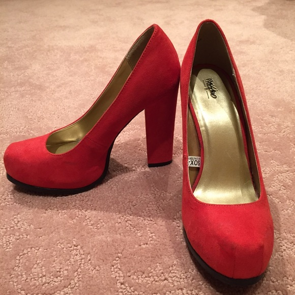 Mossimo Target Red Suede Pumps