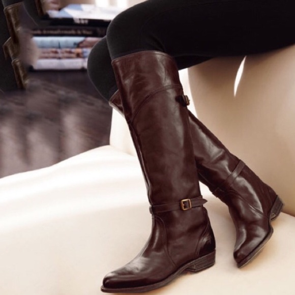 2be7108167fa5 Frye NEW Dorado Bordeaux Tall Riding Leather Boots NWT