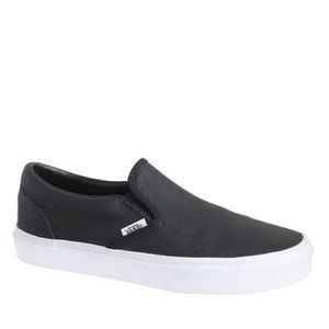 VANS® SLIP-ON SNEAKERS IN PERFORATED LEATHER