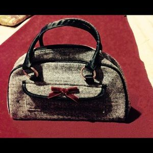Gray black cloth purse