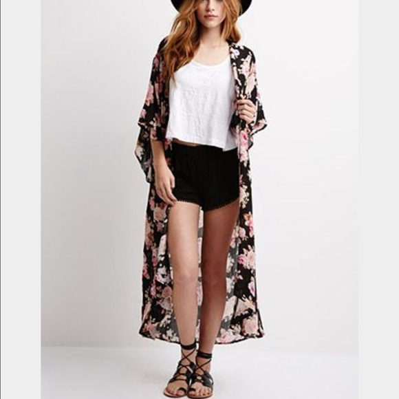 Forever 21 - SHARE PLZ ISO Forever 21 Long Rose Cardigan ...