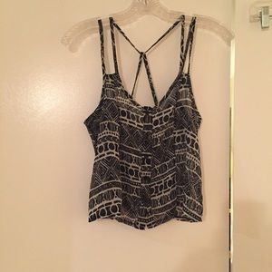 Brandy Melville black and white patterned tank top