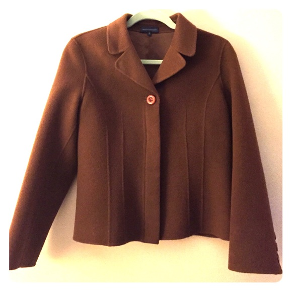 Adolfo dominguez brown button down jacket from melanie 39 s for Adolfo dominguez womens coats