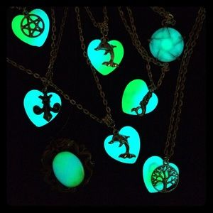 Glow in the dark statement necklace