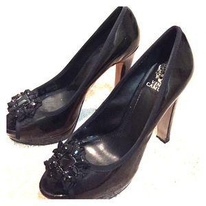 Vince Camuto Patent Shoes - Black
