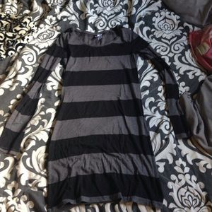 H&M black and grey stripped bodycon dress!