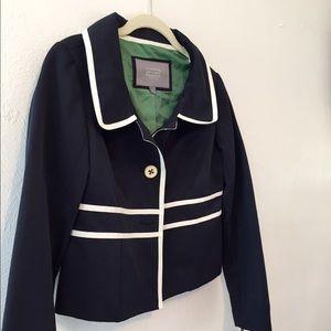 NWT Merona navy and white blazer jacket sz 4