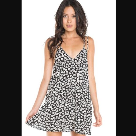 da3fd24df846 Brandy Melville Dresses   Skirts - Brandy Melville Black Floral Selma Dress