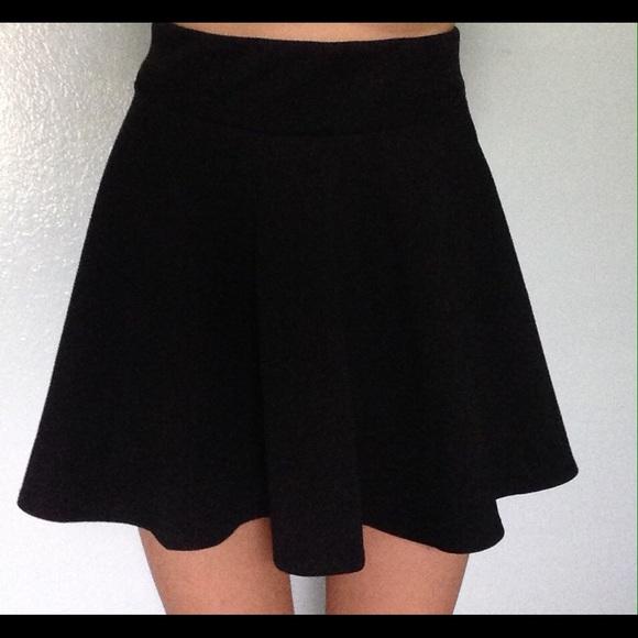 Urban Outfitters - All black high waist skater girl skirt from ...