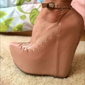 Jeffrey Campbell nude shoes
