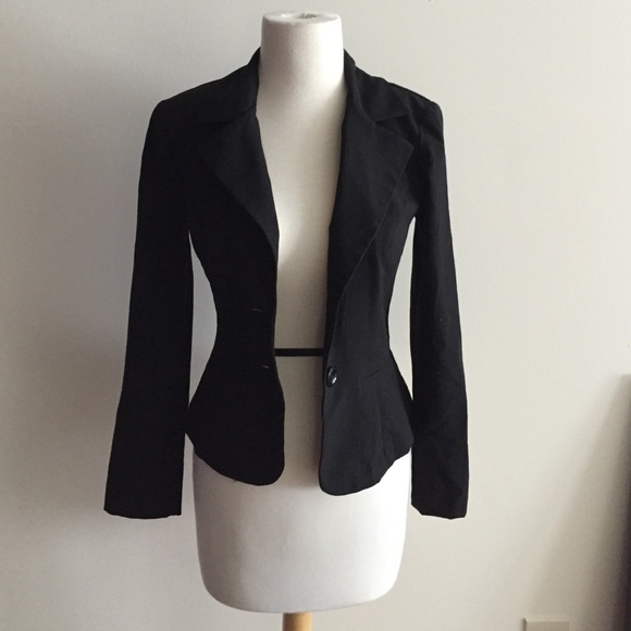 55% off Macy's Jackets & Blazers - Simple black blazer from ...
