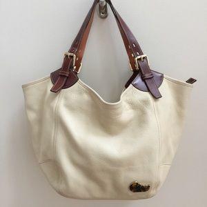 Dooney & Bourke Handbags - Authentic White Leather Dooney & Bourke Bag