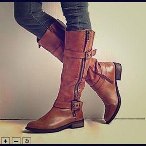 NEW Steve Madden Sonnya leather boots 8.5 cognac