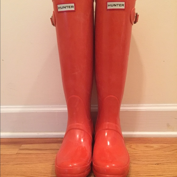 c6bed86c5c3a0 Hunter Boots - Size 8 Orange Tall Hunter Boot