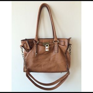 brown vegan leather Melie Bianco purse