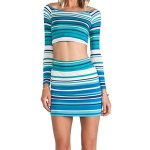 Rachel Pally Sea Stripe mini Skirt