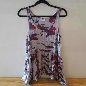 Free people floral print trapeze dress