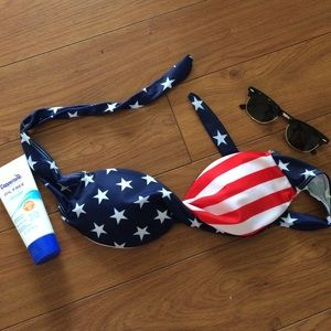 Other - American flag strapless bikini top