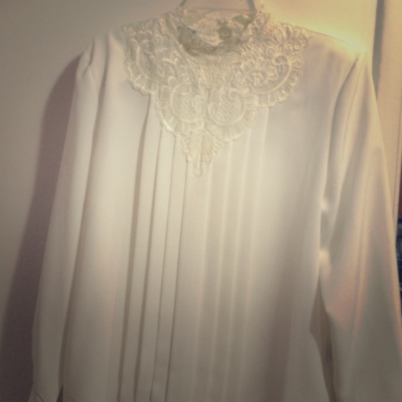 40 off tops vintage white dress shirt from angela 39 s for Classic white dress shirt