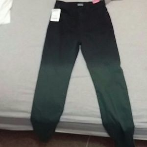 Green Ombre jeans