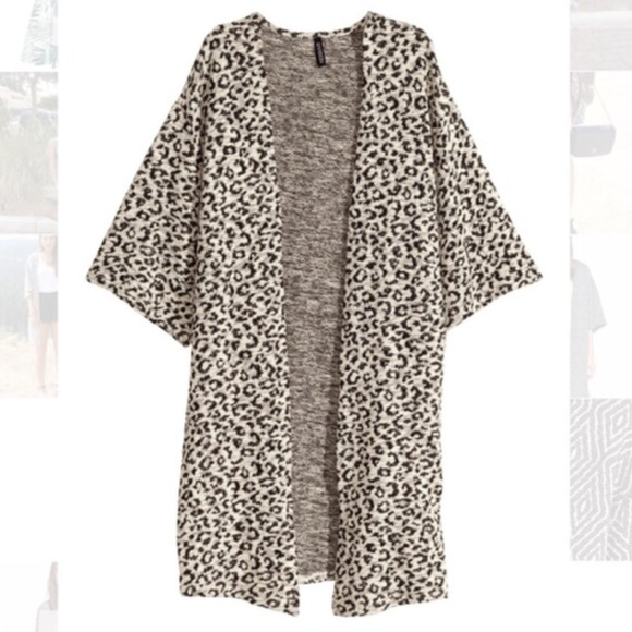 50% off H&M Sweaters - 🍩 SOLD - H&M | Leopard Kimono Cardigan ...