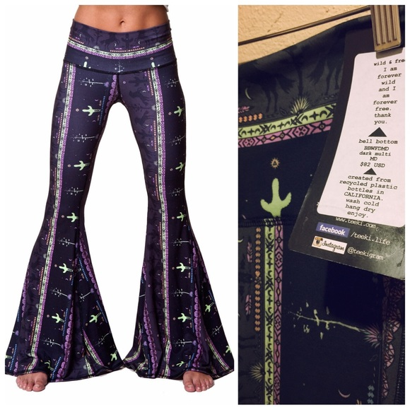 13654720e64185 Teeki Pants | Wild Freeyoga Bell Bells Bottom M | Poshmark
