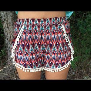 Chevron Printed Shorts