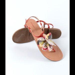 Xhileration Orange/Coral Sandals size 8
