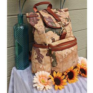 Vintage world map backpack poshmark boutique bags vintage world map backpack publicscrutiny Images