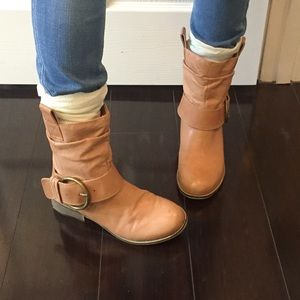 Tan Steve Madden Booties