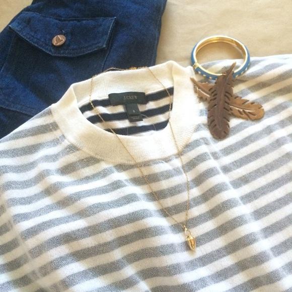 190f64ac15c Sale🎉 J.Crew Shadow Stripe Sweater - Navy Cotton