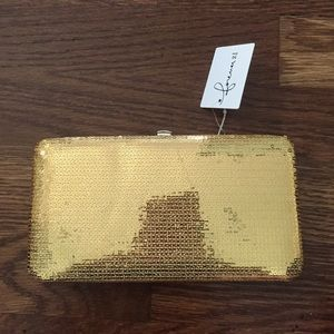 Forever 21 Gold clutch/ wallet