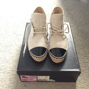 NWB Authentic Chanel Espadrille Sneakers 39