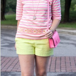 J.Crew neon yellow shorts