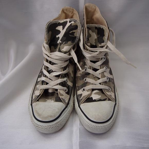 6b35bbdf26e5 Converse Shoes - Rare Vintage Camo Converse All Star Tennis Shoes