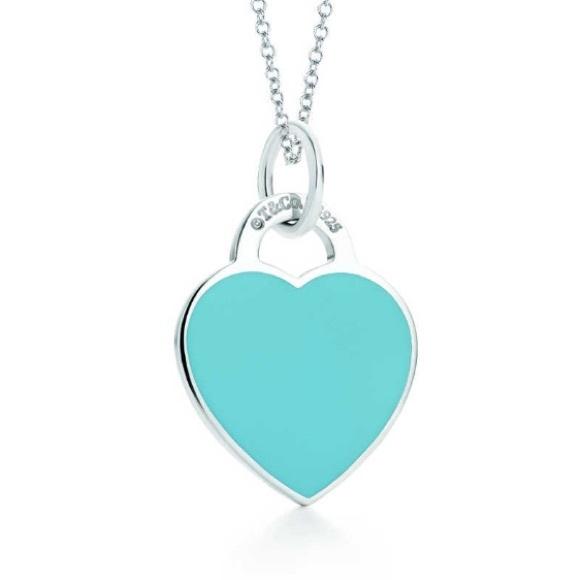 ab0a6882e7df3 Tiffany & Co blue enamel heart charm