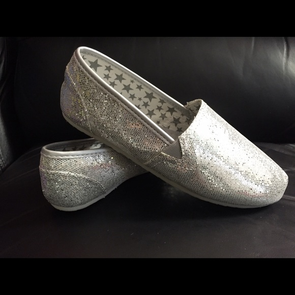 57 so shoes silver glitter slip ons from jenn s