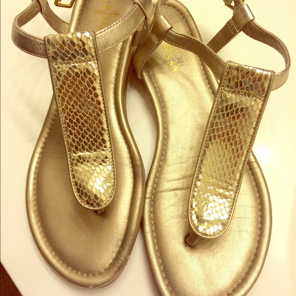 Cole Haan Shoes - Cole Haan gold metallic thong sandal