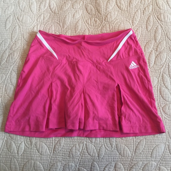 64% off Adidas Dresses & Skirts - Hot pink Adidas pleated ...